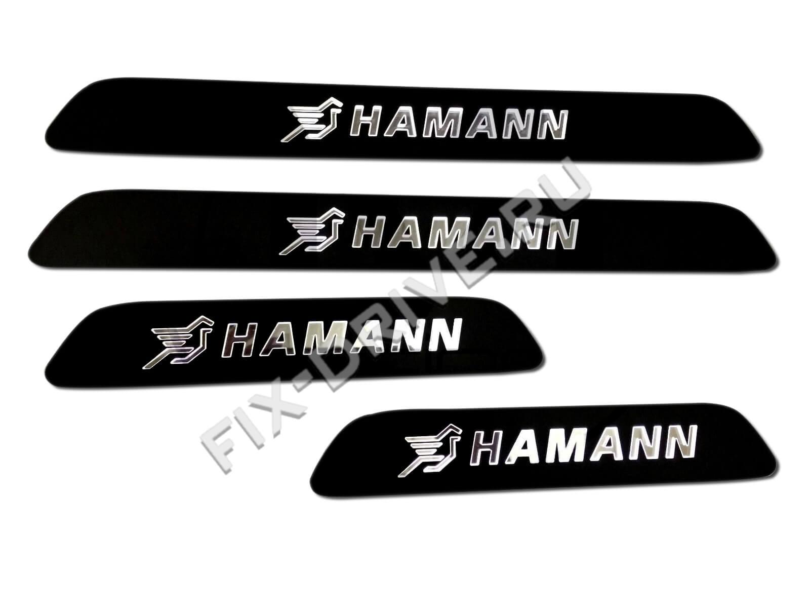 Накладки на пороги с подсветкой Porsche Panamera HAMANN