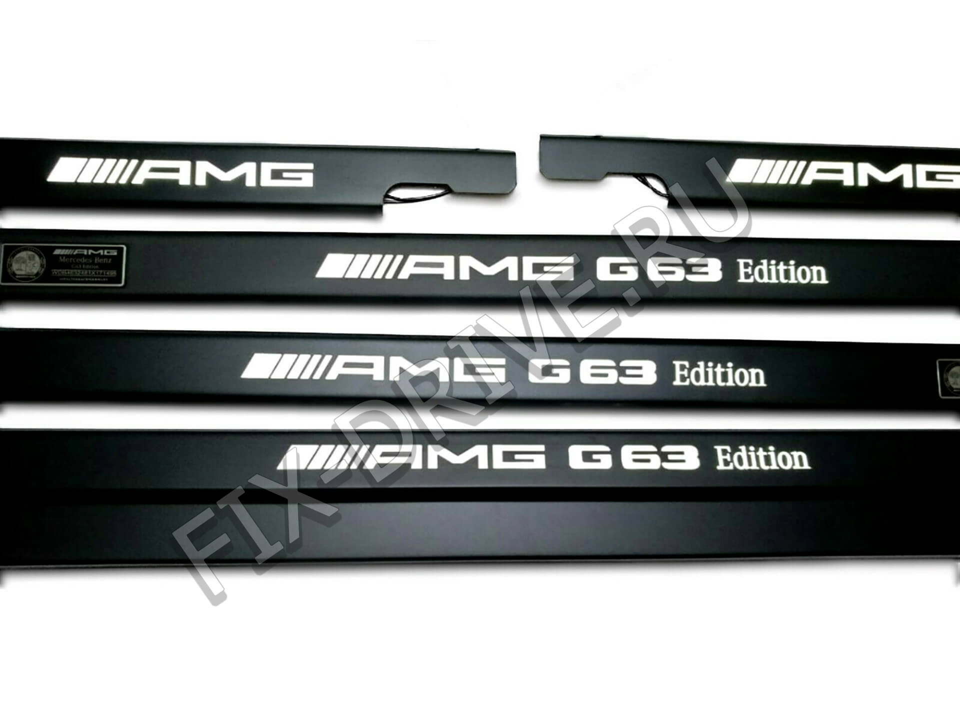 Накладки AMG G63 Edition на пороги с подсветкой G-Class w463