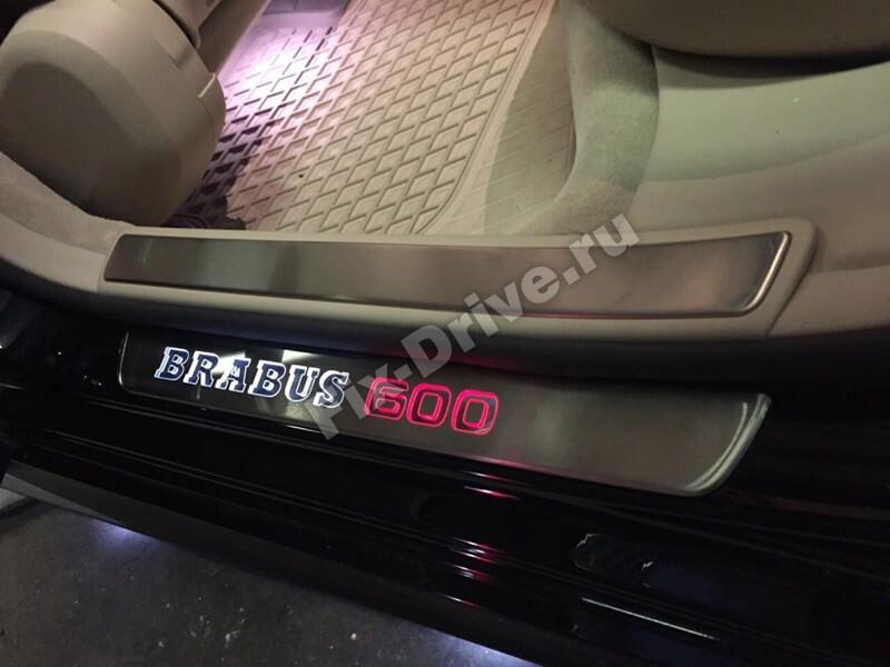 Накладки на пороги с подсветкой Mercedes GLS-Class x166 Brabus 600