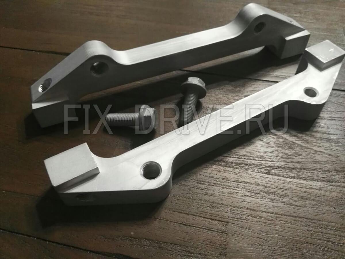 Скобы переходники для суппортов G63 G65 AMG на G55 G500 сталь
