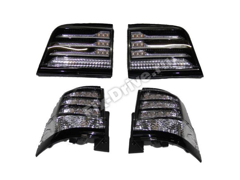 Фонари задние Lexus LX570 Черные