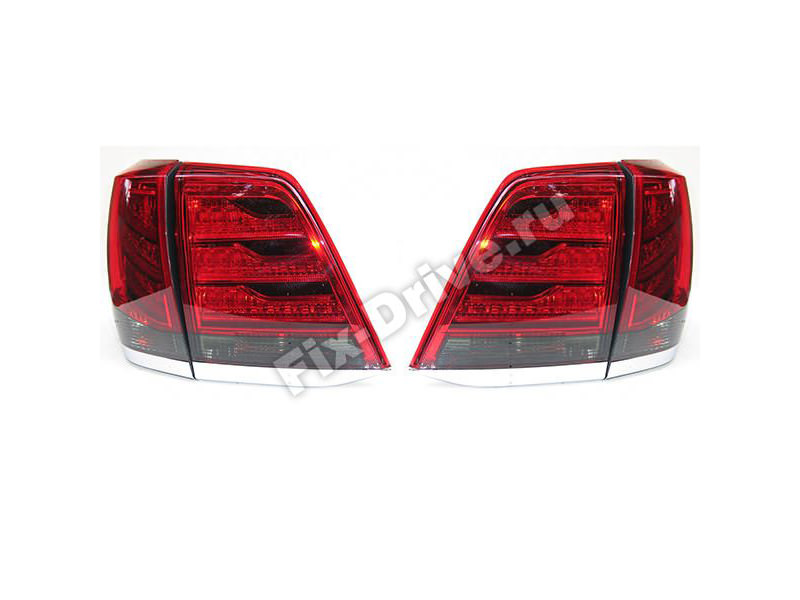 Фонари задние TOYOTA Land Cruiser 200 J200 (Стиль Lexus) 2012-2016