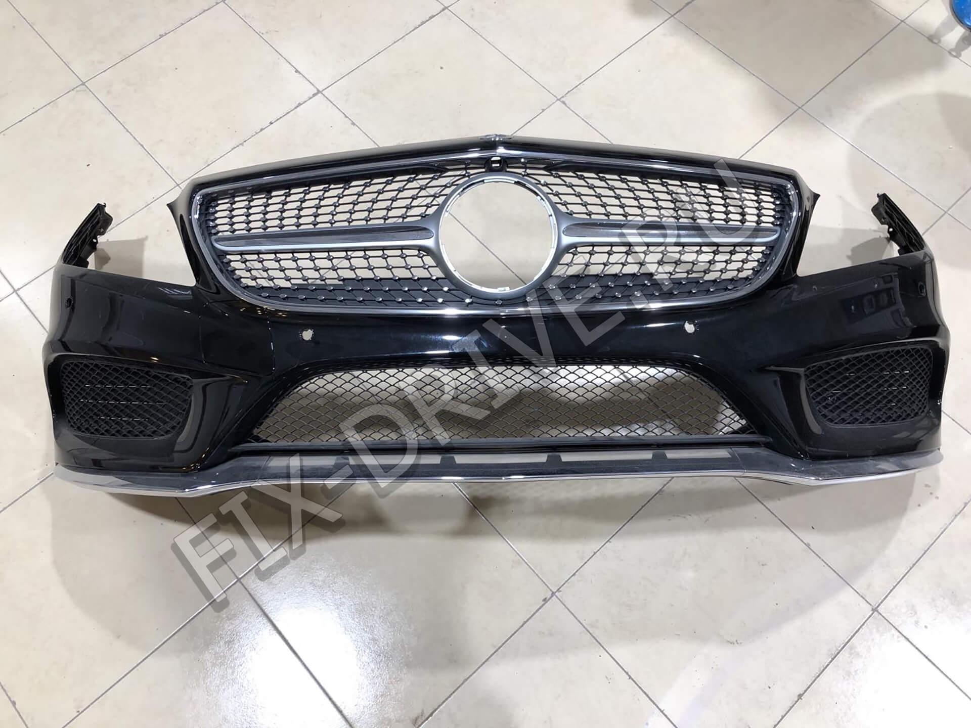 Бампер w218 передний AMG CLS 2015 - 2019 + рестайлинг оригинал