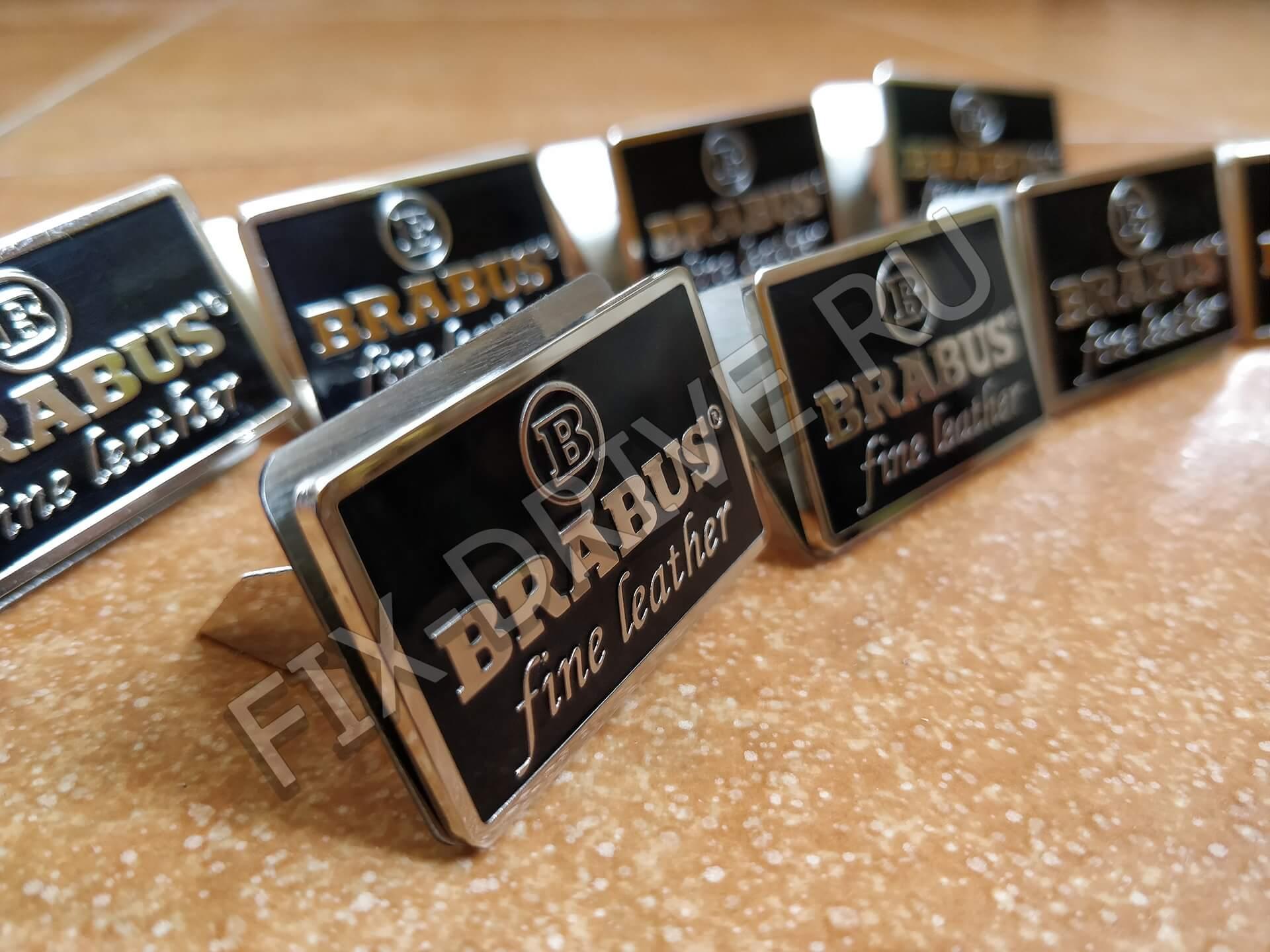 Brabus Fine Leather черные квадратные в сидения Mercedes