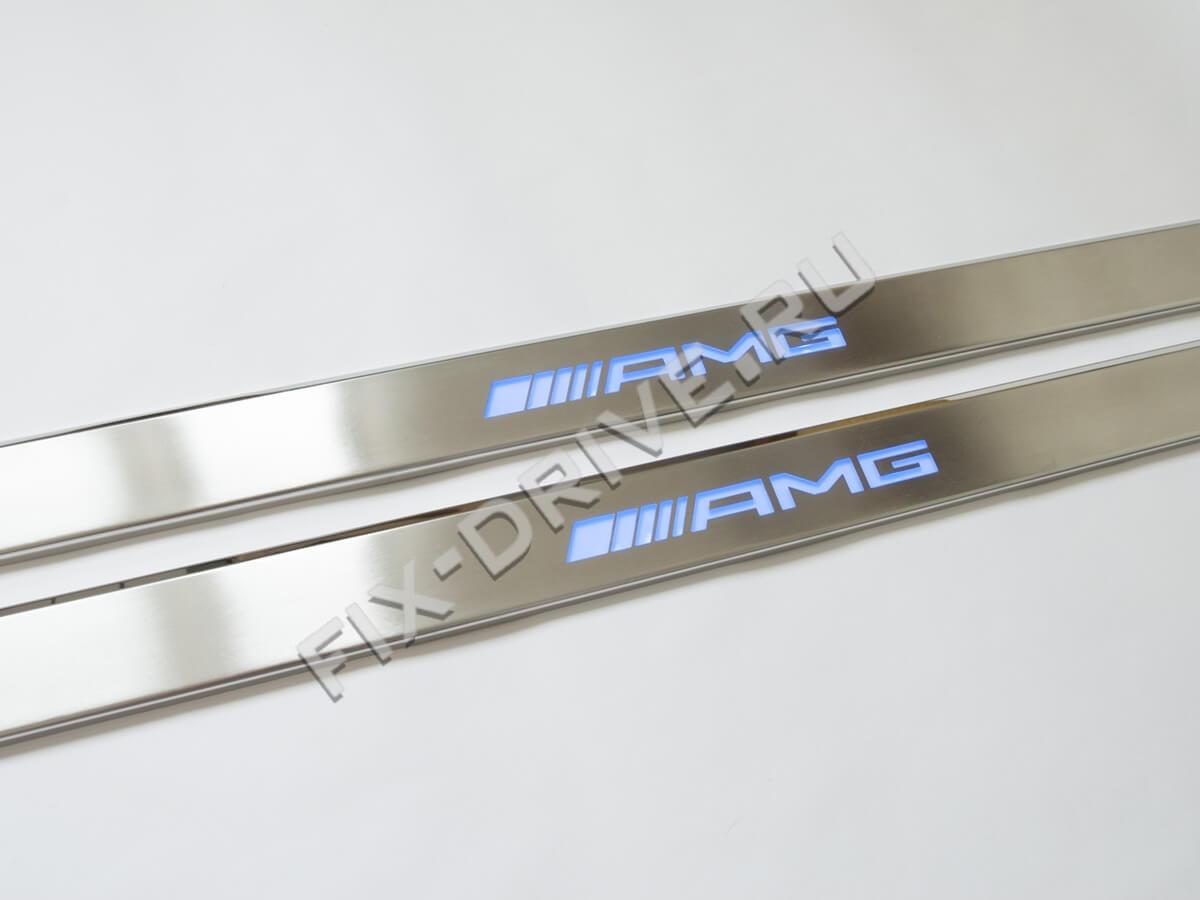Накладки на пороги с подсветкой Mercedes-Benz CL-Class c216 AMG