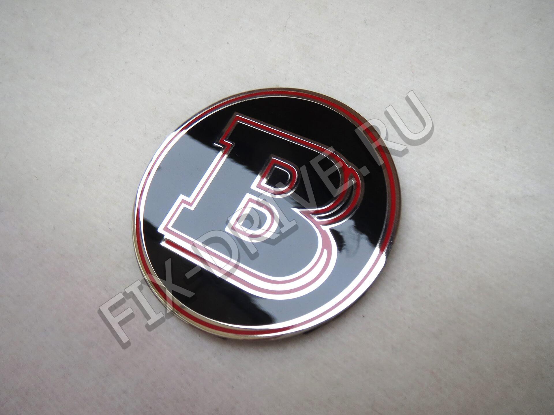 Эмблема в капот Brabus красная w140 S-Class