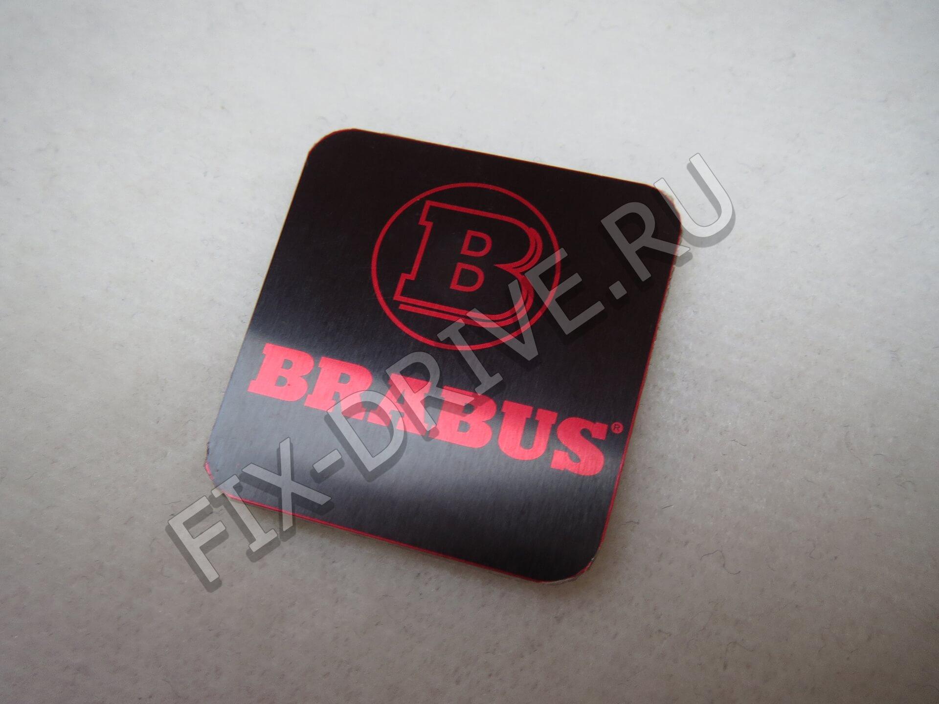 Эмблема в ручку кпп Brabus красная w140 S-Class