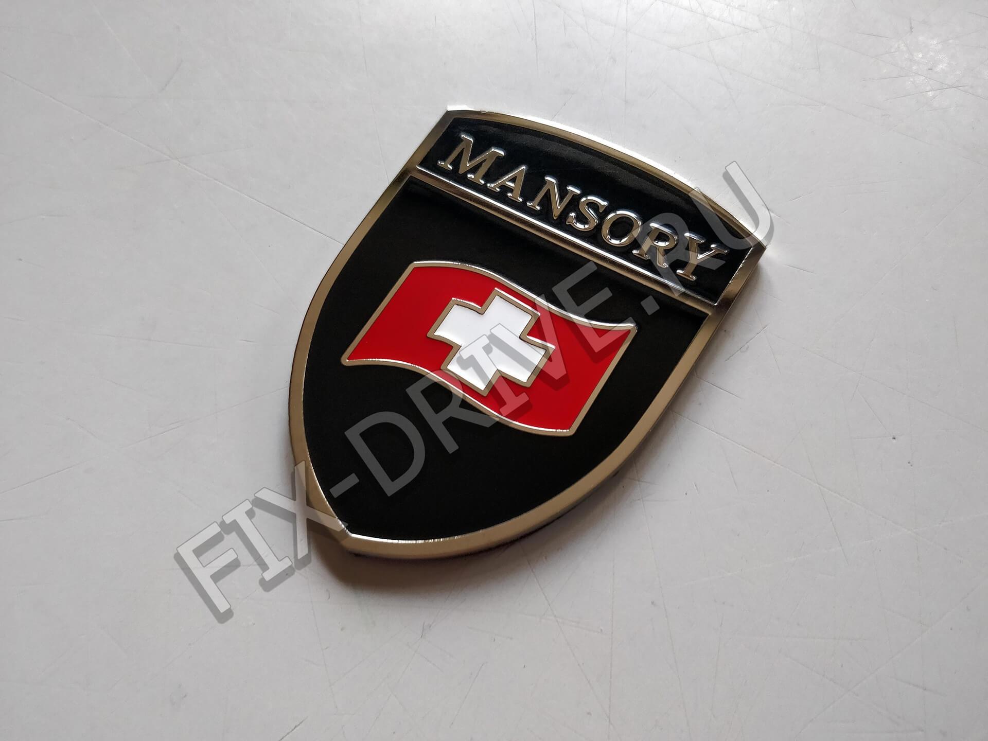 Шильд Mansory изогнутый вьющийся флаг Porsche Macan 95B