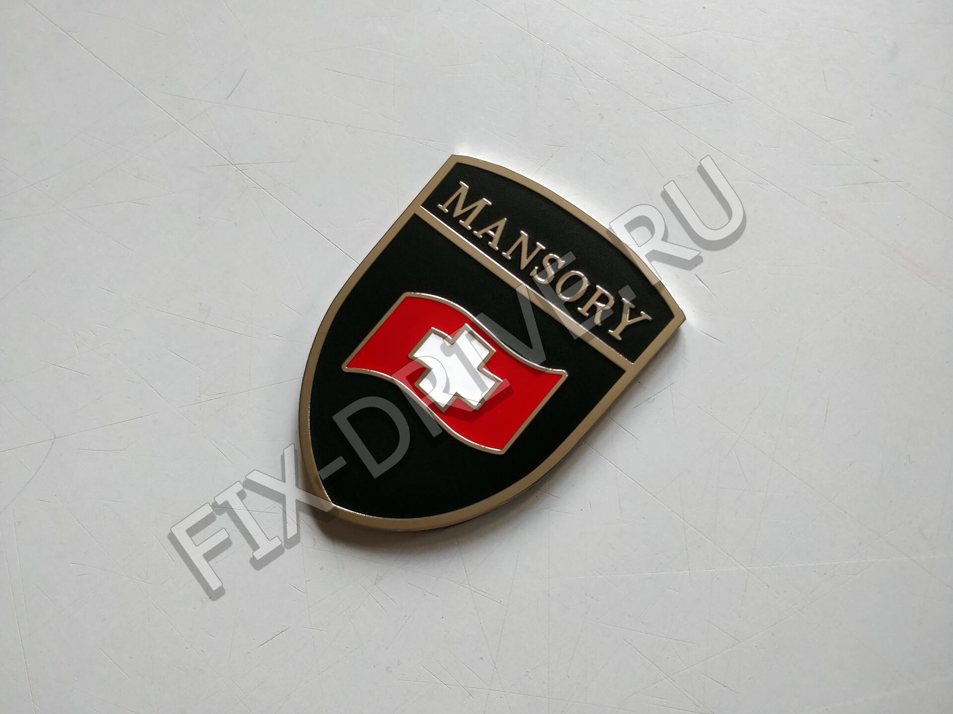Шильд Mansory изогнутый вьющийся флаг Porsche Cayenne 957