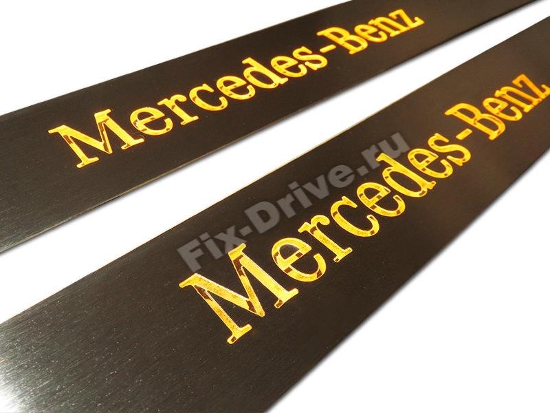 Накладки на пороги Mercedes-Benz SLK-Class r172