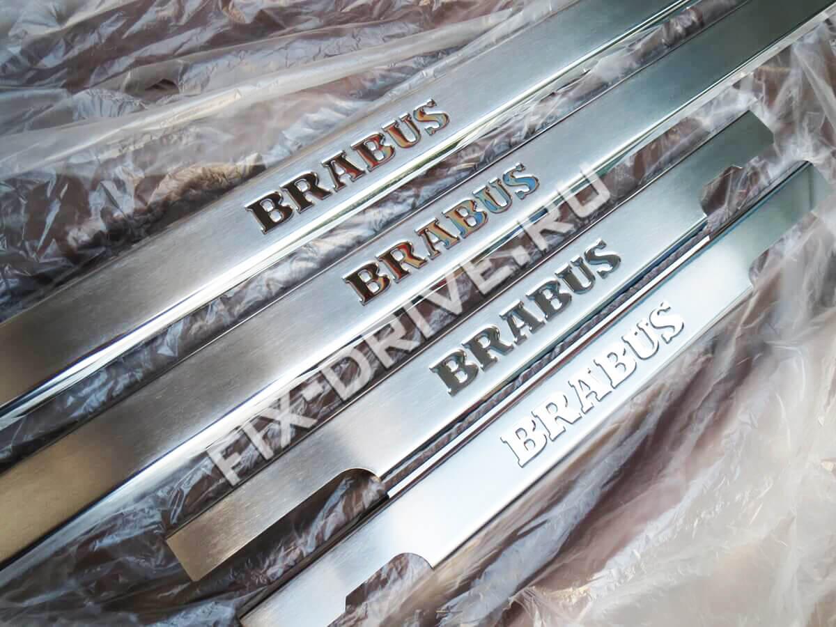 Накладки на пороги Mercedes-Benz G-Class w463 Brabus