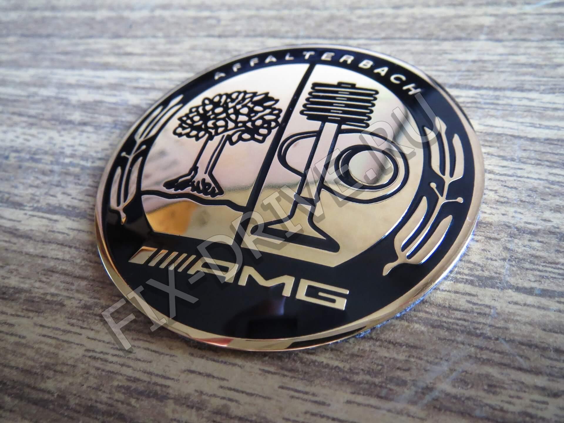 Эмблема Affalterbach GOLD AMG G63 G65 w463 в руль