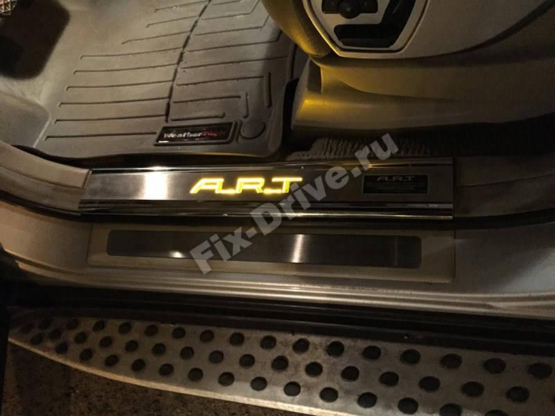Накладки на пороги с подсветкой Mercedes-Benz GL-Class x166 ART