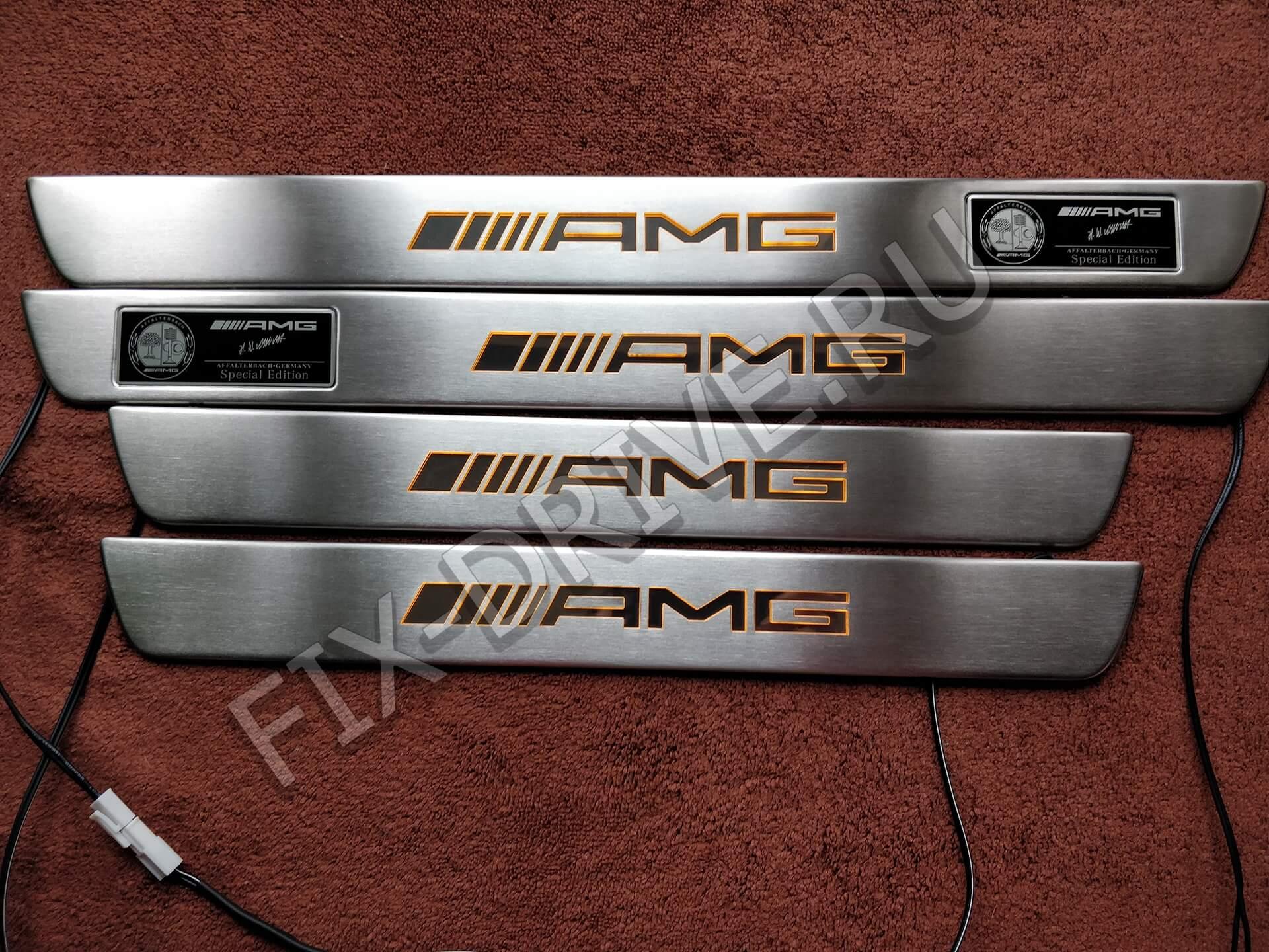 Пороги AMG W 166 GL ML300 ML350 ML550 светящиеся