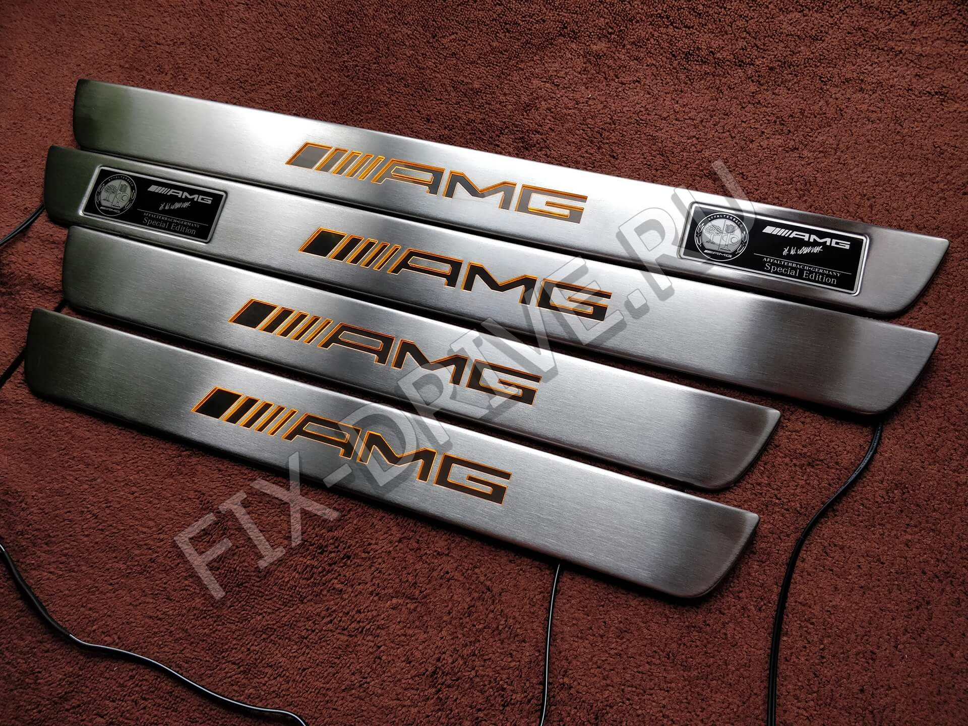 Накладки на пороги AMG X 166 с подсветкой GLE-klasse