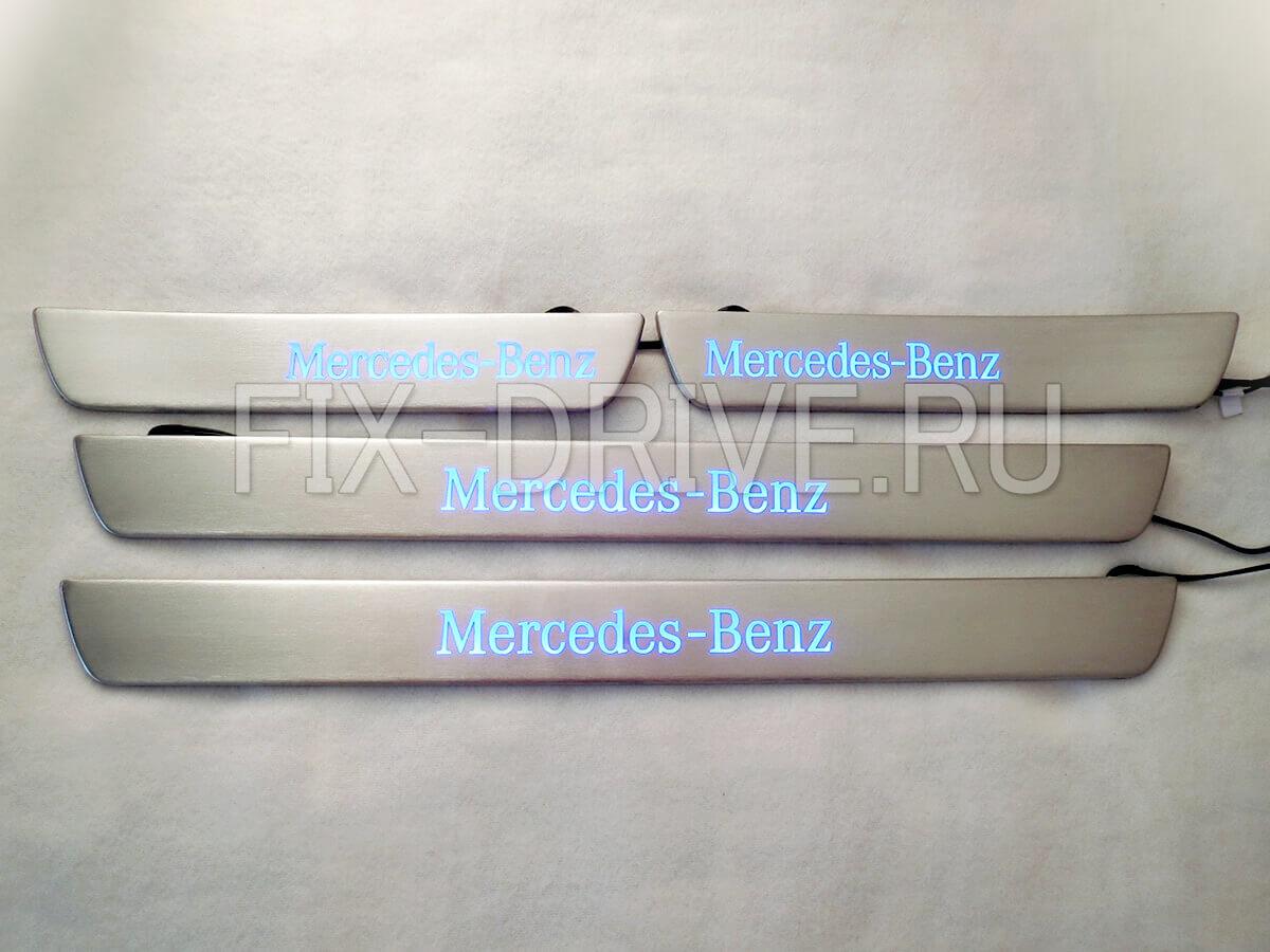 Накладки на пороги Mercedes-Benz C-Class w205