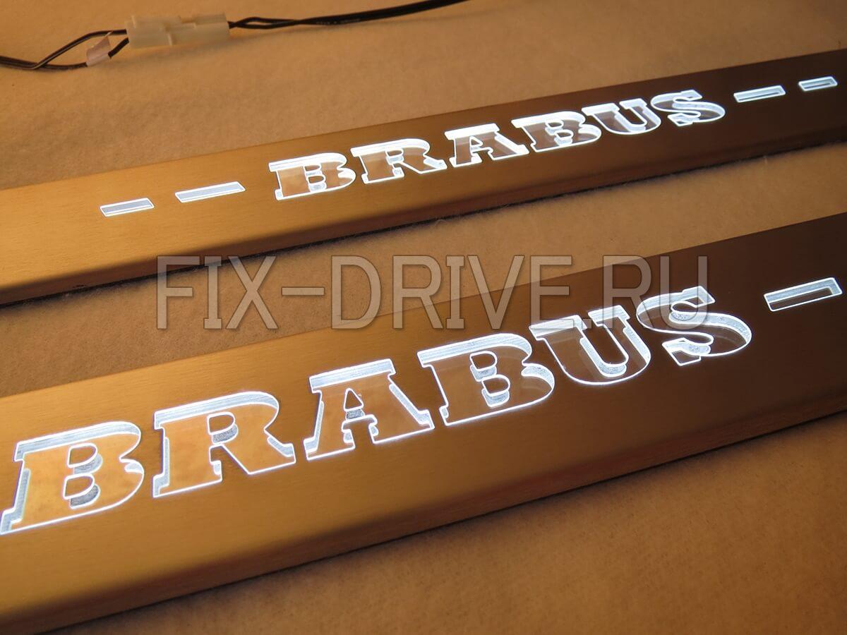 Пороги x166 Brabus с подсветкой Mercedes GL-Class