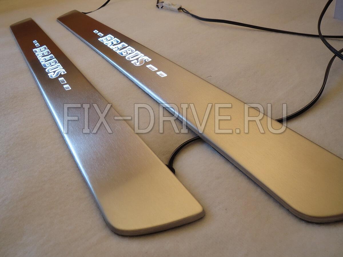 Накладки на пороги с подсветкой Mercedes-Benz GLC-Class x253 Brabus