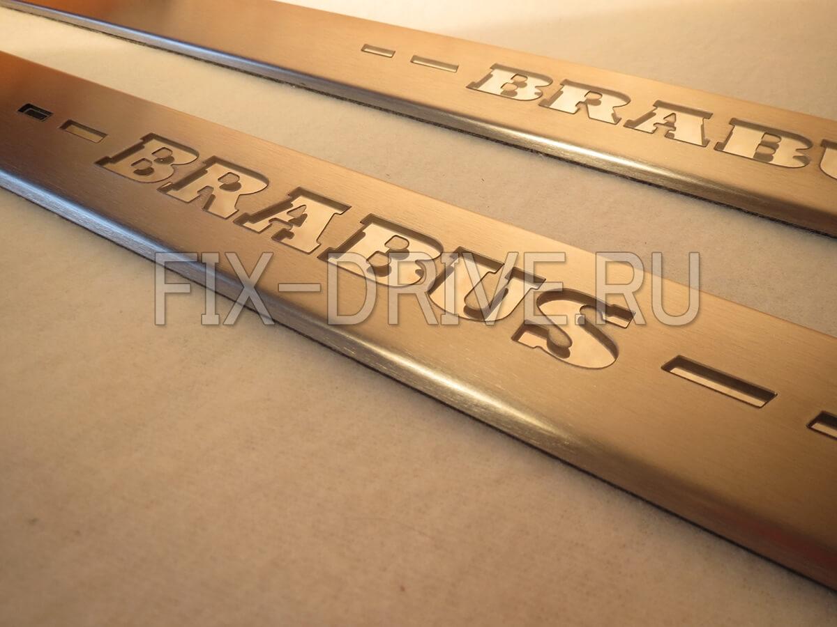 Накладки на пороги с подсветкой ML300 ML350 ML550 W166 Brabus GL-Class