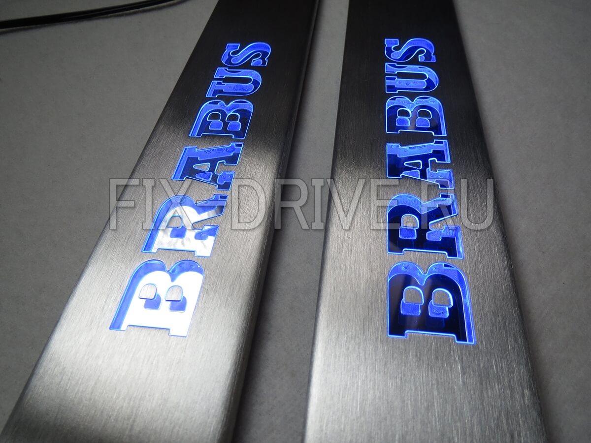 Пороги светящиеся Brabus ML300 ML350 ML550 W166 GL-Class