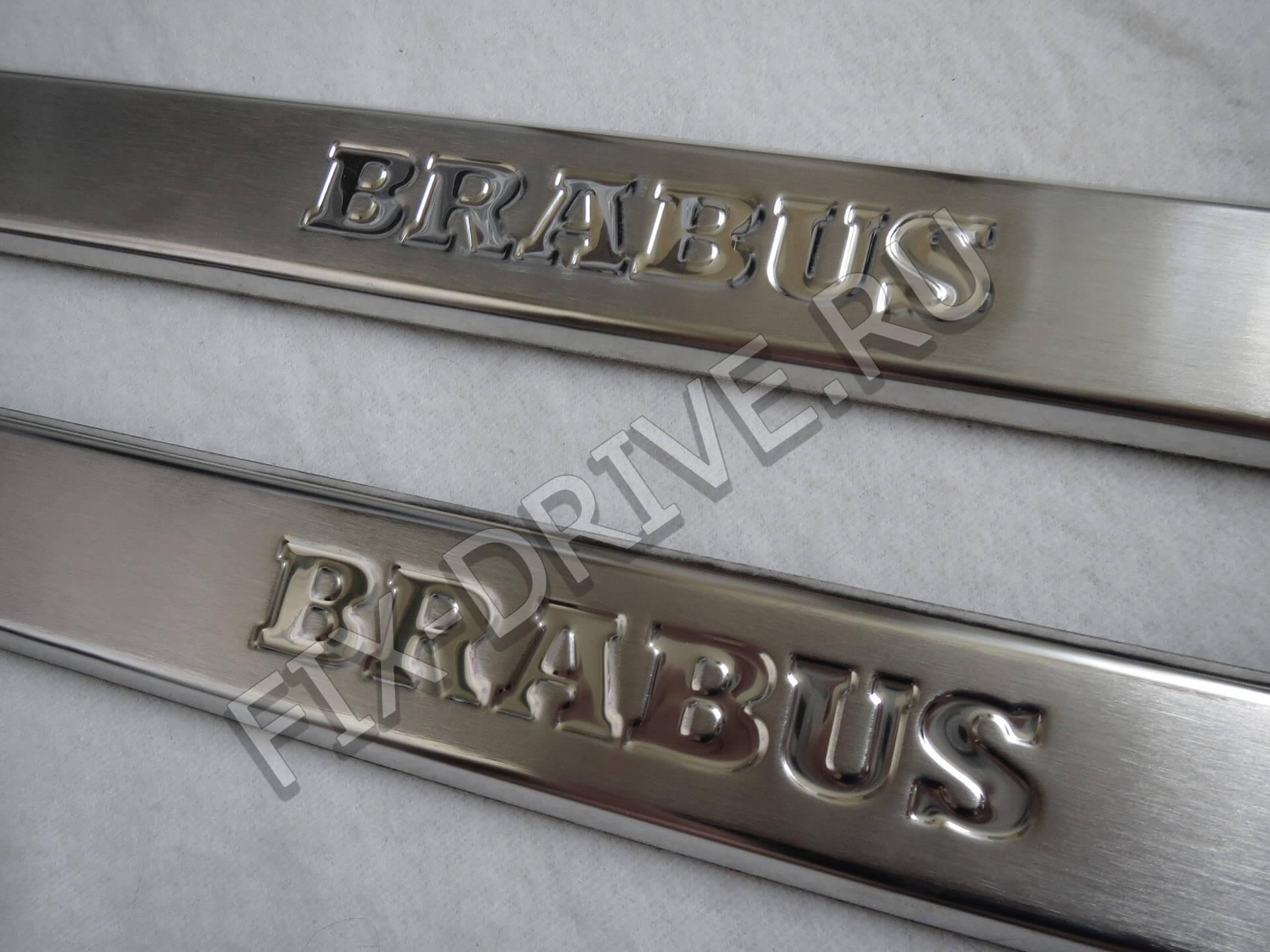 Передние пороги Brabus w463 G-Class гравировка