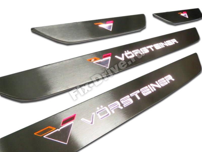 Накладки на пороги с подсветкой BMW F15 Vorsteiner Style