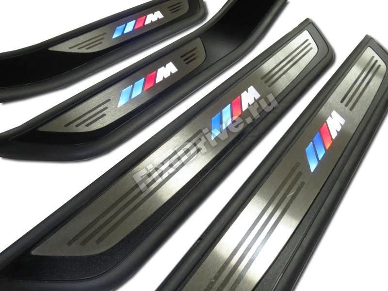 Накладки на пороги с подсветкой BMW F32