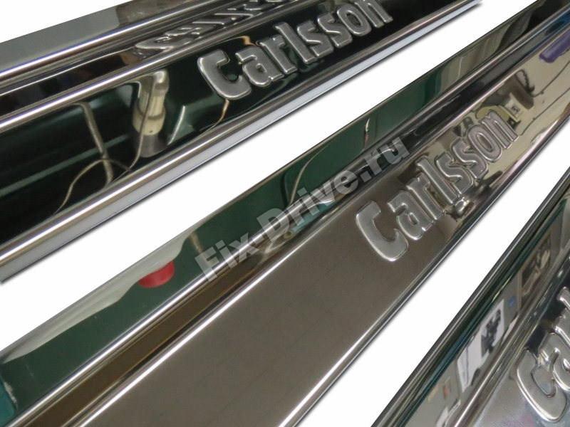Накладки на пороги Mercedes-Benz E-Class w124 лонг Carlsson