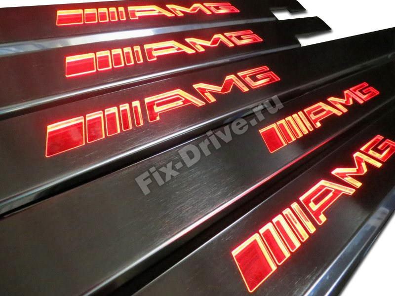 Пороги AMG G63 G65 G-Class w463 Gelendwagen с подсветкой