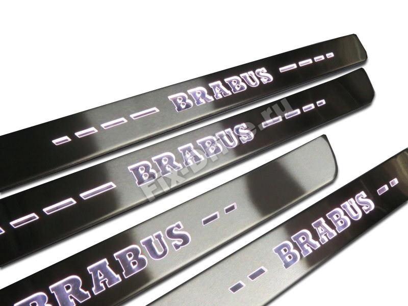 Накладки на пороги с подсветкой Mercedes-Benz A-Class w168 Brabus