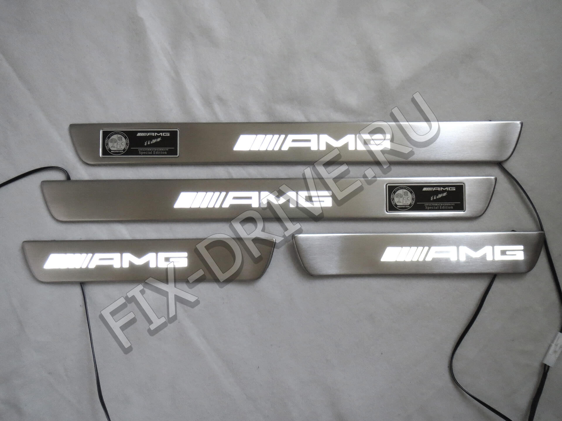Пороги AMG w166 GLE63 с подсветкой