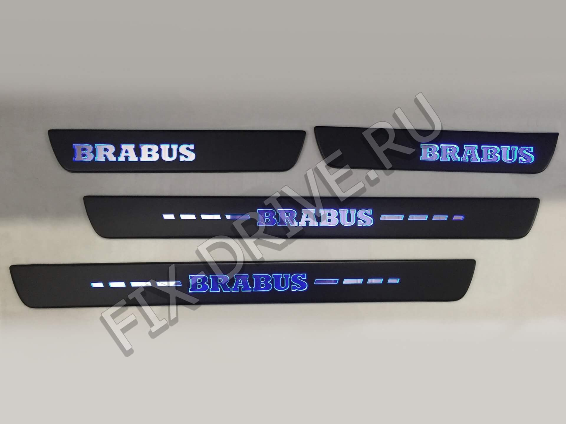 Пороги BRABUS w203 C-Class с подсветкой