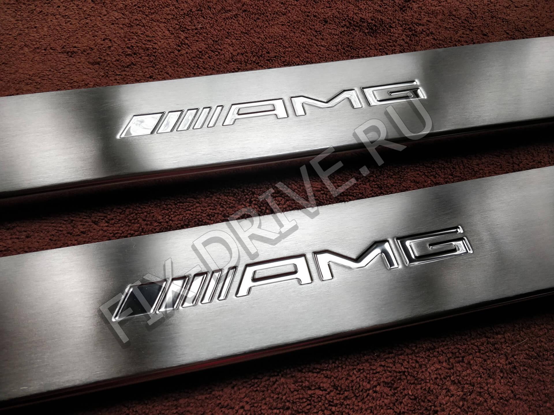 Пороги r 170 AMG гравировка SLK-Class накладки