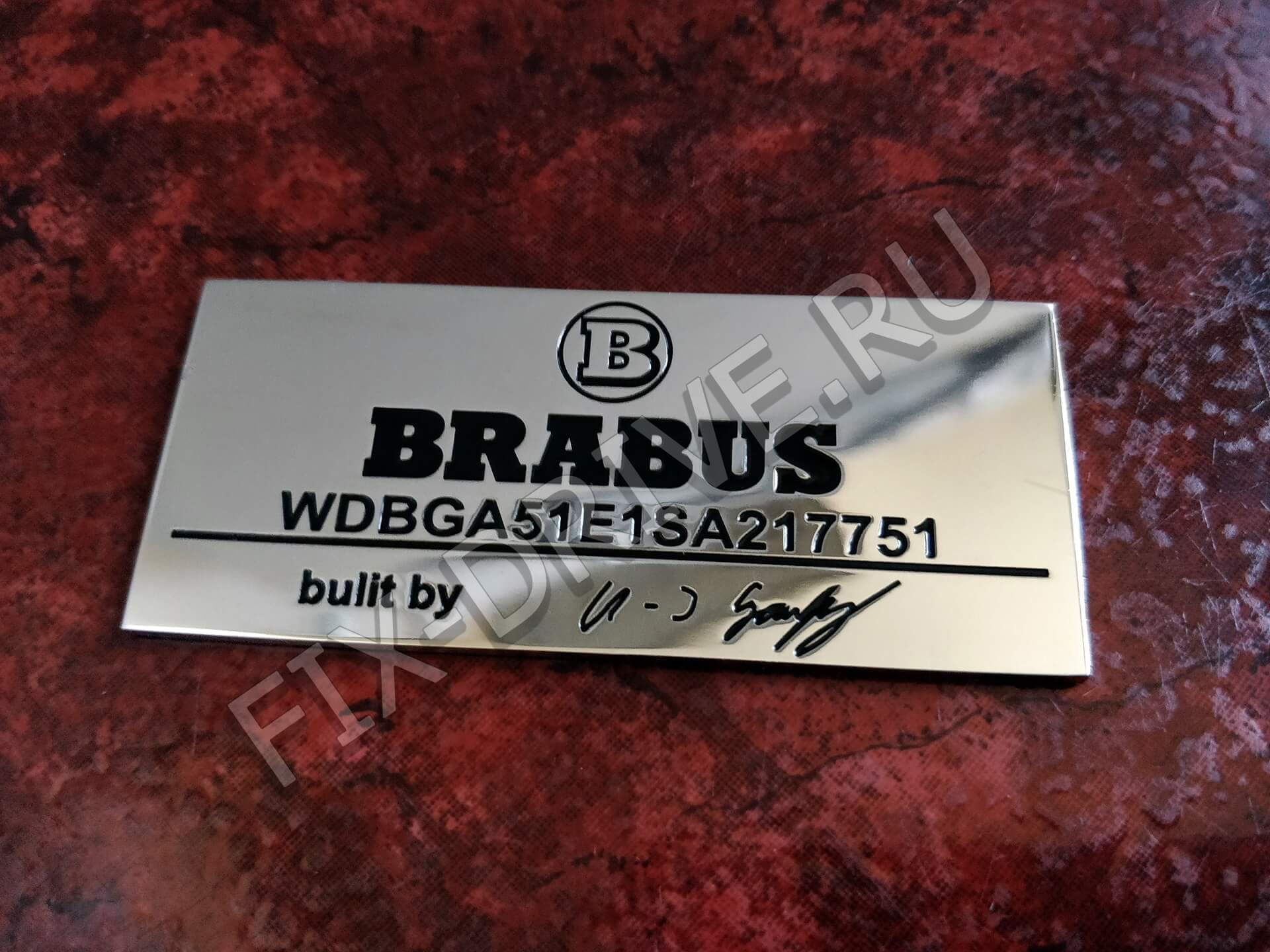 Эмблема шильд Engine type Mercedes-Benz Brabus C-Class w204