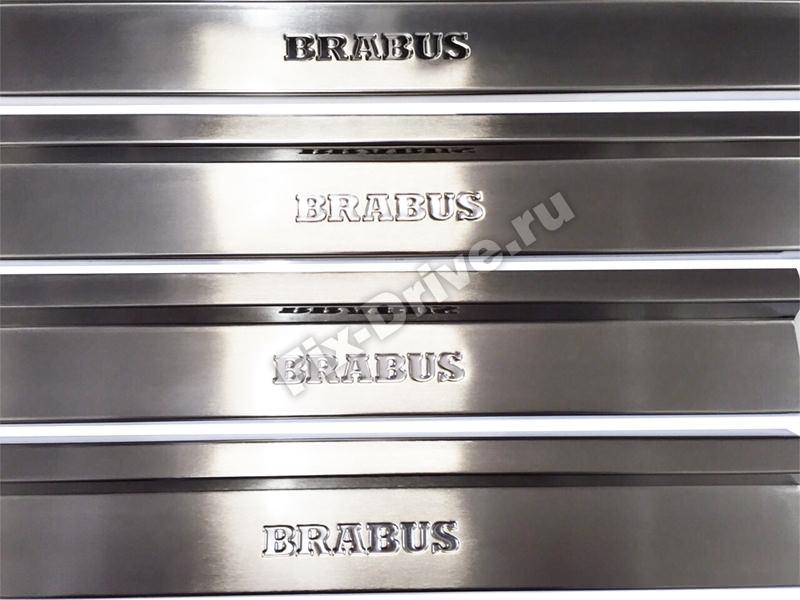 Накладки на пороги Mercedes-Benz S-Class w116 Brabus