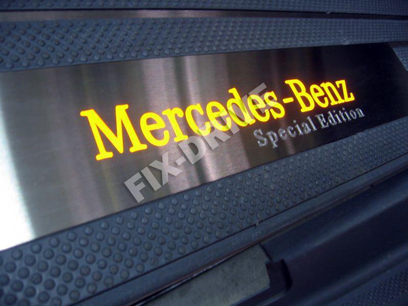 Накладки на пороги с подсветкой Mercedes-Benz V-Class w638