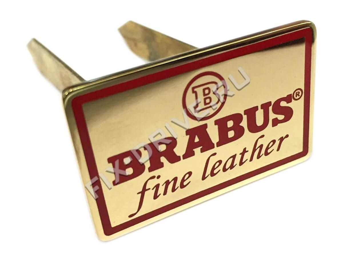 Эмблема шильд Brabus сидения Fine leather Mercedes G w463 gold red